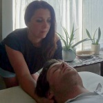 Rachel Clark and client Soma Trauma Therapy Car Auto Automobile Accident Massage